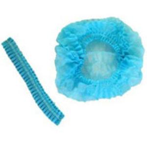 Boneta medicala cu elastic Alb/Albastru